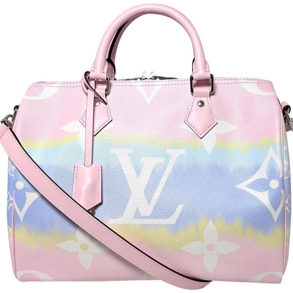 Louis Vuitton Speedy 30 Bandouliere Escale Pink